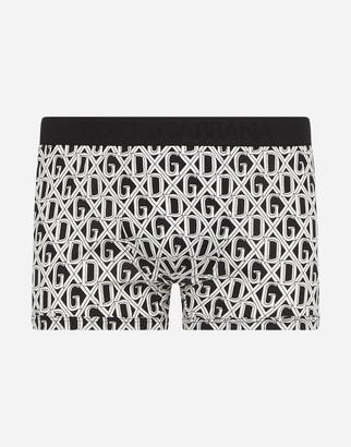 Dolce & Gabbana Cotton Boxers With Net Print