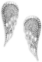 House Of Harlow Crystal Pave Angel Wing Clip-On Earrings