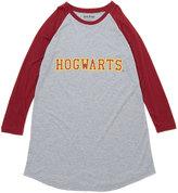 Intimo Gray & Burgundy Harry Potter Gryffindor Raglan Gown - Girls