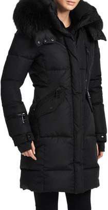 SAM. Fox Fur Hood Highway Puffer Coat