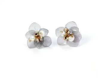 I'mmany London Emile Layered Hydrangea Stud Earrings