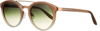 Barton Perreira Dalziel Round Mirrored Sunglasses