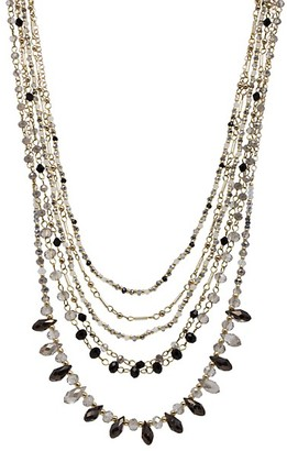 Saachi Amara Goldtone Crystal Multi-Row Statement Necklace
