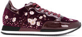 Philippe Model floral embroidered trainers