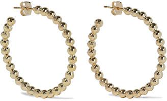 Shashi Fort Knox 18-karat Gold-plated Hoop Earrings
