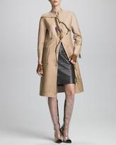 Ralph Rucci Paneled Leather Skirt