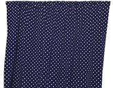 Zen Creative Designs Premium Cotton Small Polka Dot Curtain Panel / Home Window Decor / Window Treatments / Small / Dots / Spots (58 Inch x 36 Inch, White Navy)
