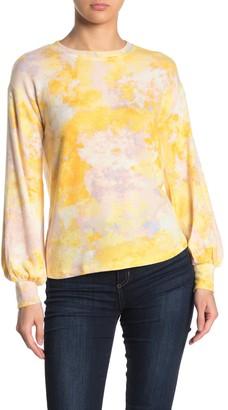 Socialite Brushed Tie Dye Print Sweatshirt