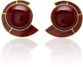 Monica Sordo Obsidian Nautilus Earfan Baby Earrings