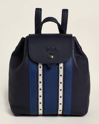 Longchamp Le Pliage Cuir Blue Backpack