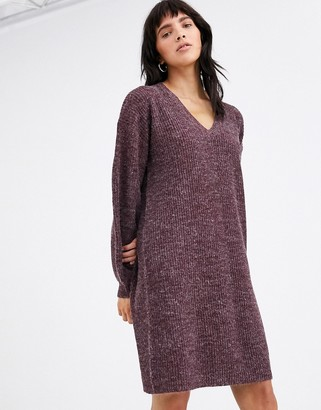 Ichi v neck jumper dress