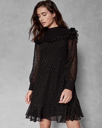 Ted Baker REBEKHA Joyous high neck ruffle dress