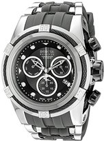 Invicta Men's 'Bolt' Swiss Quartz Stainless Steel and Polyurethane Casual Watch, Color:Grey (Model: 16243)