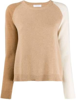 Majestic Filatures panelled raglan-sleeves jumper