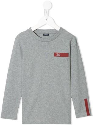 Il Gufo Logo Print Long-Sleeve Top