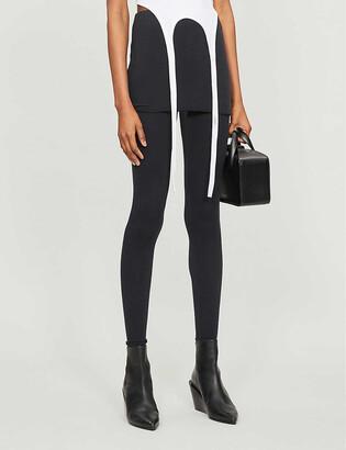 AllSaints Raffi skirted cotton-blend leggings