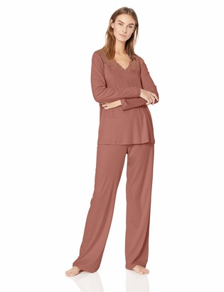 Hanro Women's Moments Long Sleeve Pajama Set