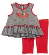 Pippa & Julie Dress & Capri Leggings Set