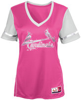 Majestic Girls' St. Louis Cardinals Curveball Babe T-Shirt