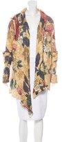 Etro Floral Print Open Knit Cardigan