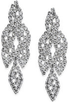 INC International Concepts Silver-Tone Crystal Leaf Drop Earrings, Only at Macy's