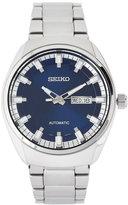 Seiko SNKN41 Silver-Tone & Blue Watch