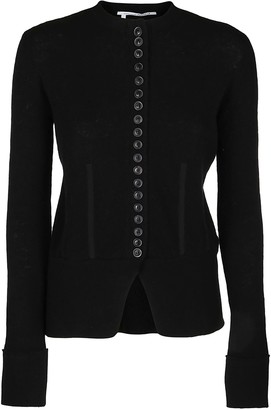 Agnona Black Wool-cashmere Blend Cardigan