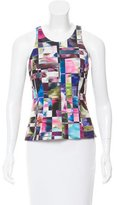 Milly Abstract Print Sleeveless Top