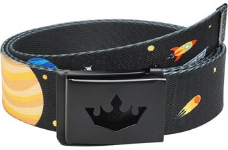Meister Player Golf Web Belt - Adjustable & Reversible - Outer Space