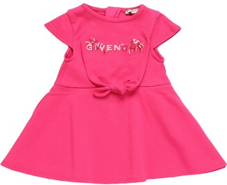 Givenchy Logo Embroidered Cotton Jersey Dress