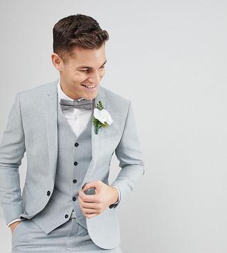 Noak slim stretch wedding suit jacket in donegal
