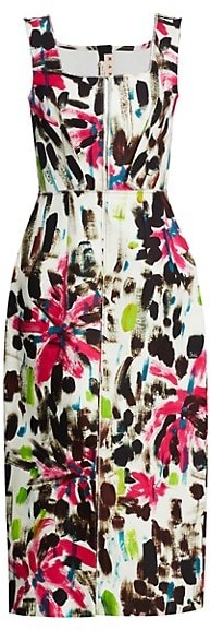 Marni Sleeveless Printed Midi Dress