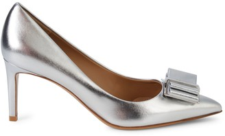 Salvatore Ferragamo Zeri Metallic Leather Pumps