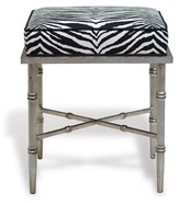 The Well Appointed House Doheny Silver Leaf Bench with Zebra Upholstered Top
