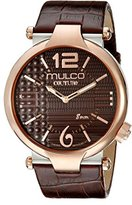 Mulco Men's MW5-3183-033 Couture Slim Analog Display Swiss Quartz Brown Watch