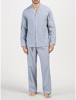 John Lewis Oxford Stripe Pyjamas, Navy