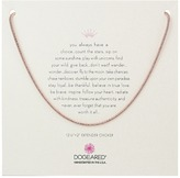 Dogeared Empowering Sparkle Rope Chain Choker Necklace