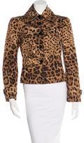 Dolce & Gabbana Leopard Print Casual Jacket