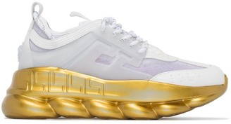 Versace Chain Reaction contrast-sole sneakers