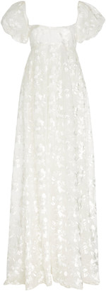 Brock Collection Embroidered Appliqued Organza Maxi Dress