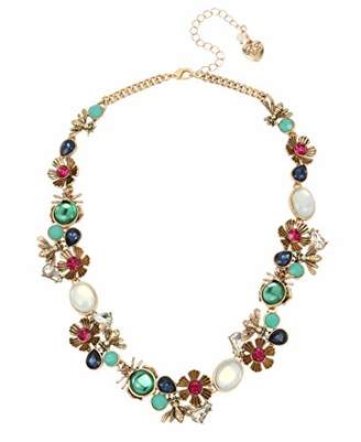 Betsey Johnson (GBG) Women's Bug & Flower Cluster Collar Necklace