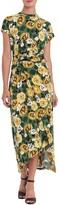 Thumbnail for your product : Donna Morgan Floral Short Sleeve O-Ring Maxi Dress