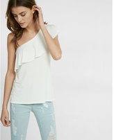 Express one shoulder ruffle tank