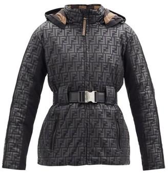 Fendi Reversible Ff-logo Hooded Down Ski Jacket - Black