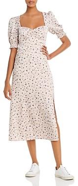 WAYF Beatrix Puff-Sleeve Midi Dress