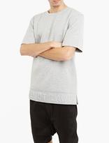 Helmut Lang Grey Embossed Logo Neoprene T-shirt