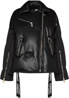 KHRISJOY Biker-Style Puffer Jacket