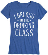Instant Message Women's Women's Tee Shirts HEATHER - Heather Royal Blue 'Drinking Class' Relaxed-Fit Tee - Women