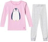 Joules Pink Penguin and Grey Zig Zag Jersey Pyjamas Set