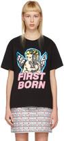 Ashley Williams Black 'First Born' Cherub T-Shirt